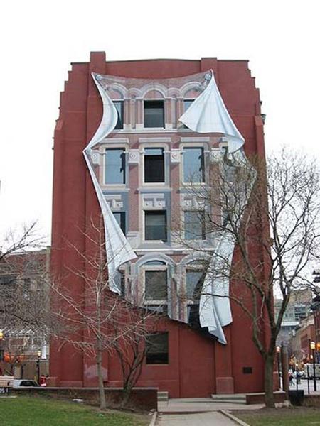 Крутые оптические иллюзии на домах