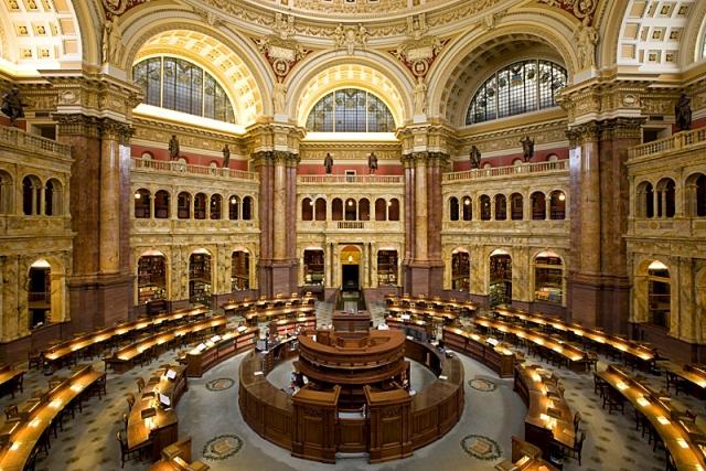 Cамые красивые библиотеки: Библиотека Конгресса США, Вашингтон