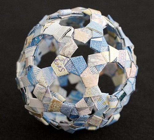 Необычные денежные оригами