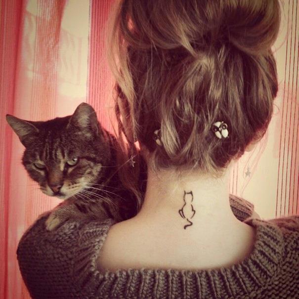 Нежные татушки для любителей котов