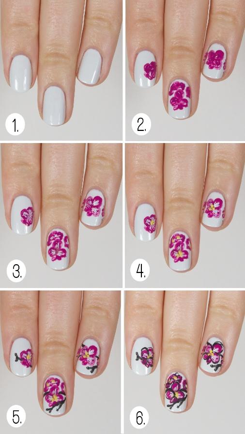 как нарисовать бабочек на ногтях