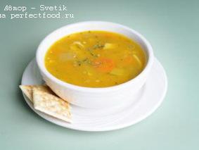 Суп с лапшой и кунжутом