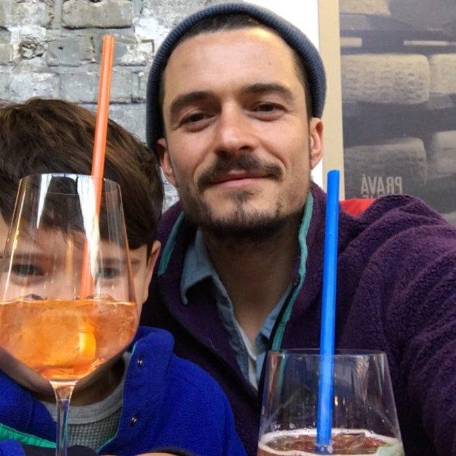 Орландо Блум з сином