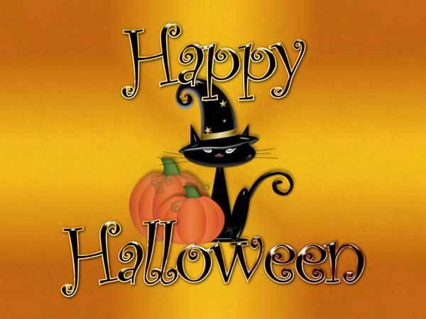 Котэ-поздравления на Хэллоуин