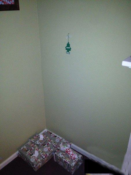 Поставил огромную новогоднюю елку
