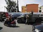 Военные на улицах Мехико