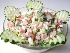Салат Ветчина с овощами