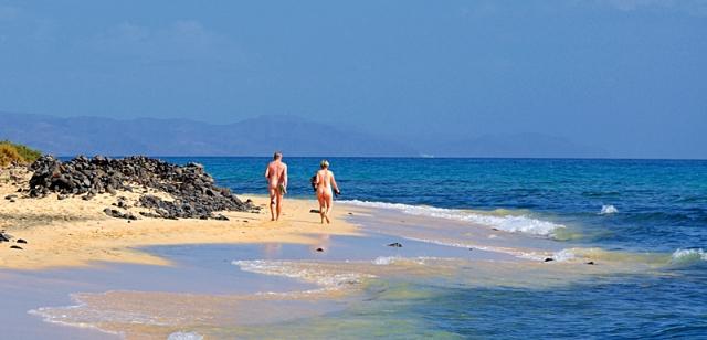 Нудистские пляжи Испании: Dune Beach Corralejo, Фуертвентура