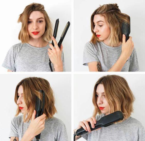 Зачіски з праскою