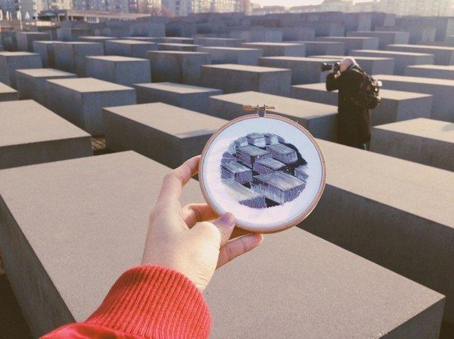 Пристрасть до зміни місць: куточки світу, вишиті Терезою Лім