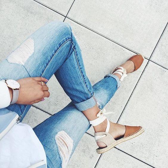 Модні сандалі еспадрільі