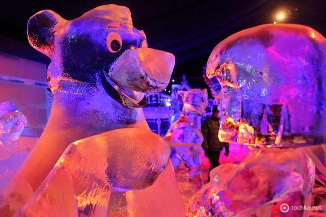 Фестиваль крижаних скульптур в Брюгге