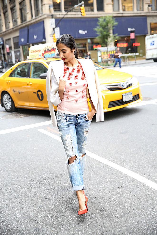 С чем носить джинсы осенью