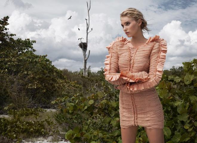 Эльза Хоск в фотосессии для Harper's Bazaar