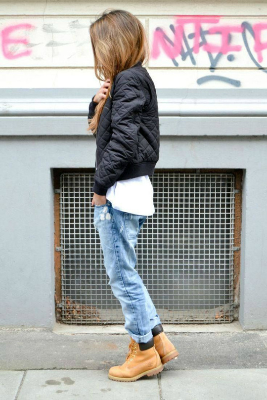 Зимние ботинки: street style