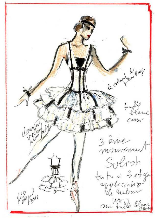 Эскизы костюма для балета Brahms-Schönberg Quartet