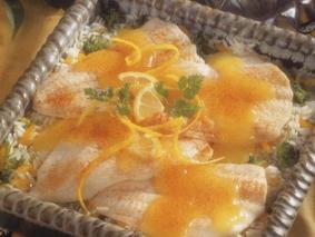 Салат из камбалы с рисом