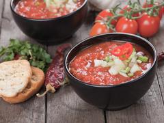 томатный суп, гаспачо