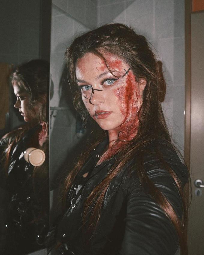 Страшный образ на Хэллоуин