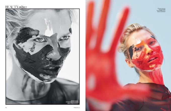 Чешская модель Хана Жирикова в арт-съемке украинского Vogue