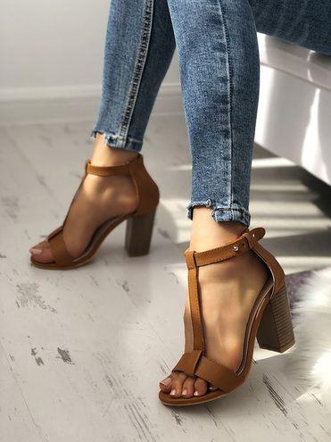 Сексуальная летняя обувь на толстом каблуке