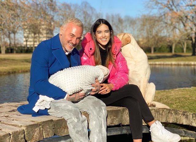 Джанлука Вакки и Шэрон Фонсека с дочерью