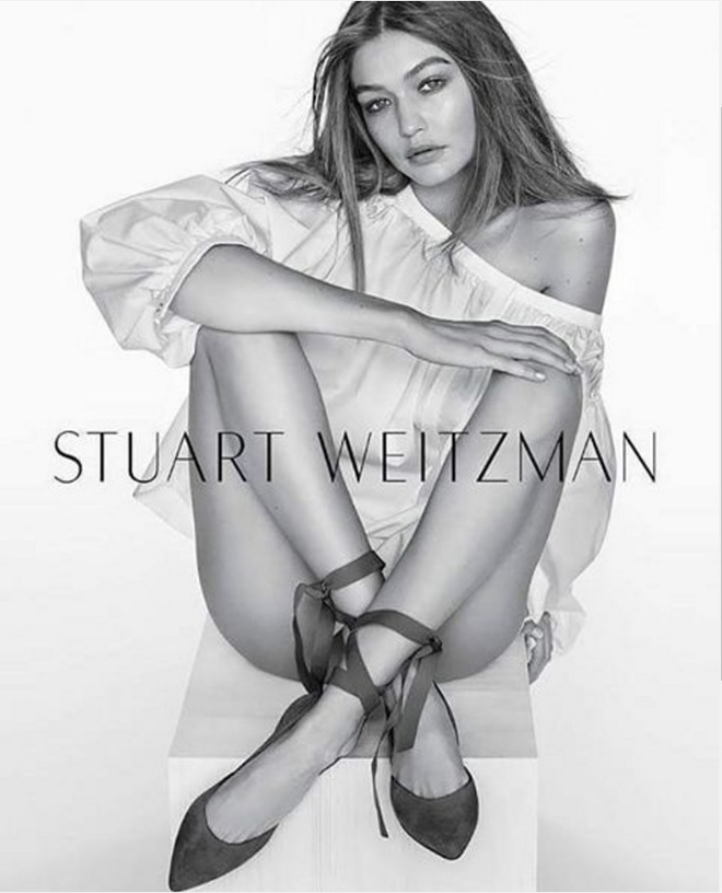 Джиджи Хадід для Stuart Weitzman