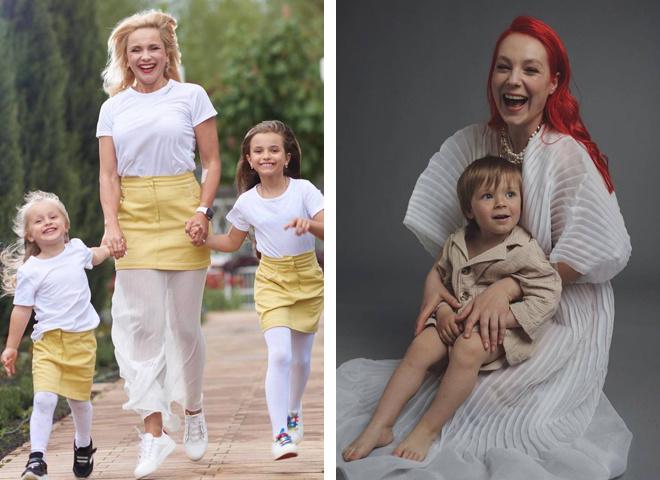 Украинские звезды с детьми