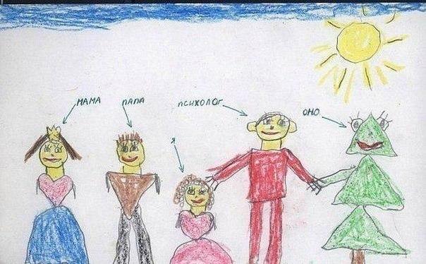 Рисунок современной семьи