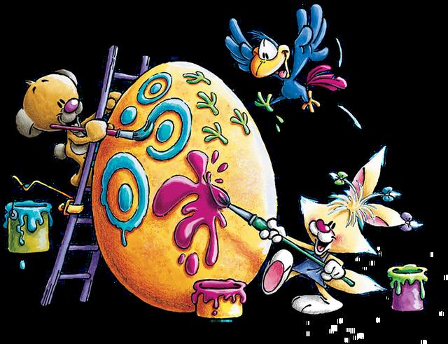 Красивые пасхальные яйца от зверюшек