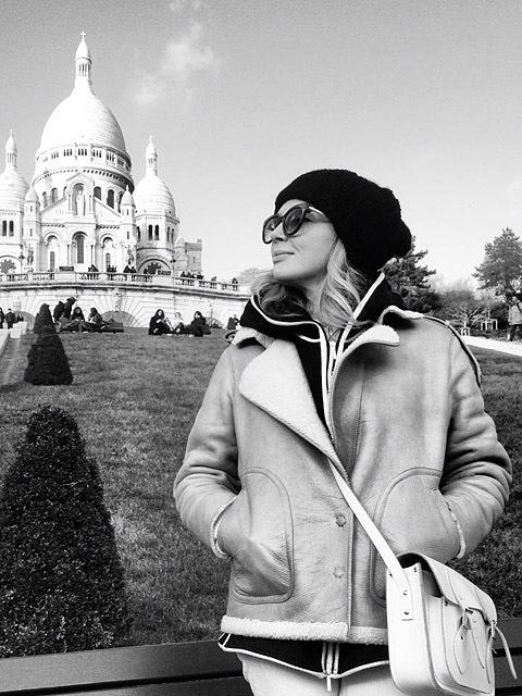 Ольга Навроцкая в Париже