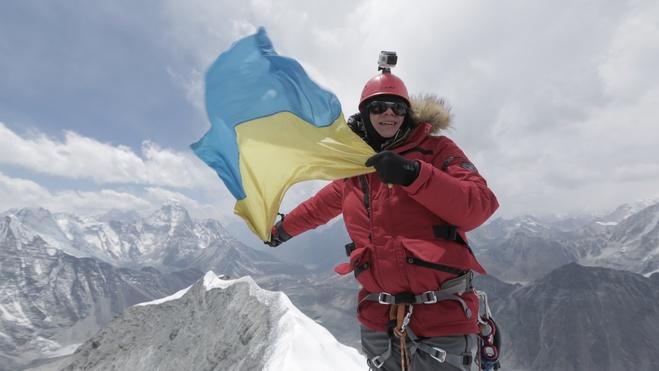 Дмитрий Комаров на вершине Айленд-Пик
