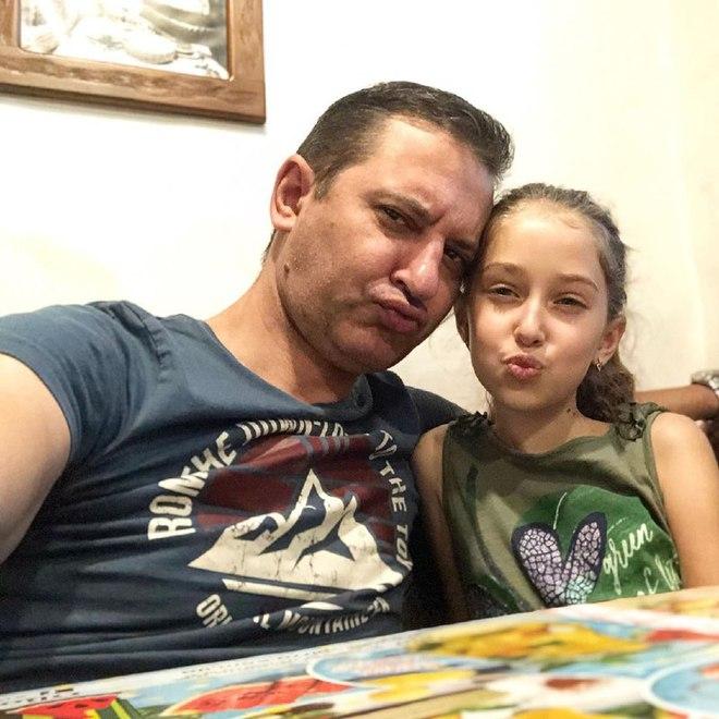Валерій Ославський з дочкою