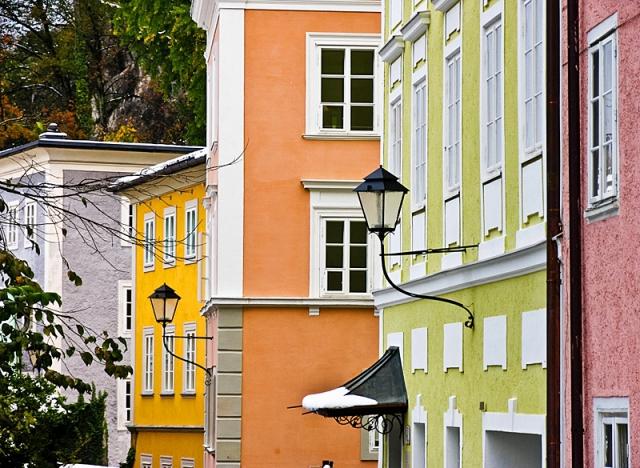 Разноцветные города мира:  Зальцбург, Австрия