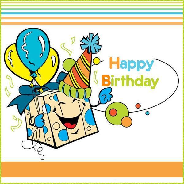 Картинки с днем рождения на английский, конфетти