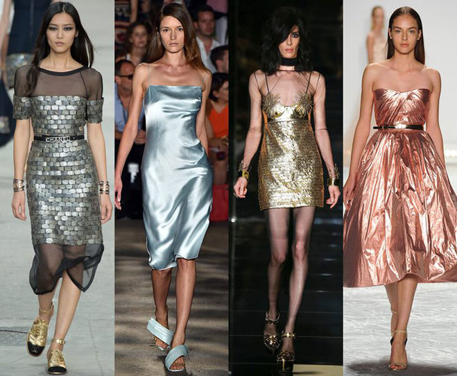 Ткань металлизированная для платья
