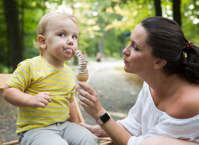 Лера Татарчук с сыном
