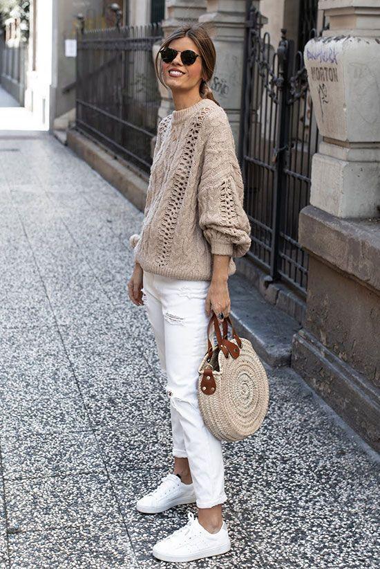 Белые джинсы осень 2020