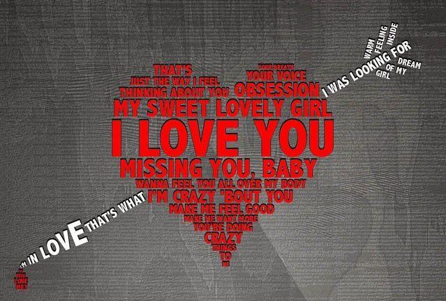 Красивая открытка ко дню влюбленных