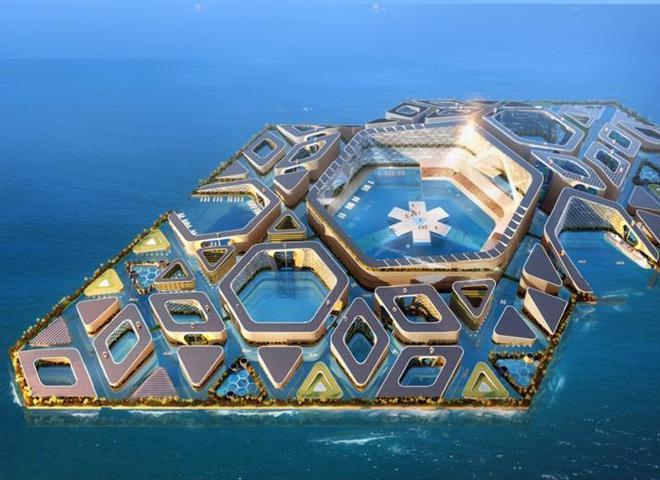 У Бельгії представили концепт плавучого еко-міста майбутнього