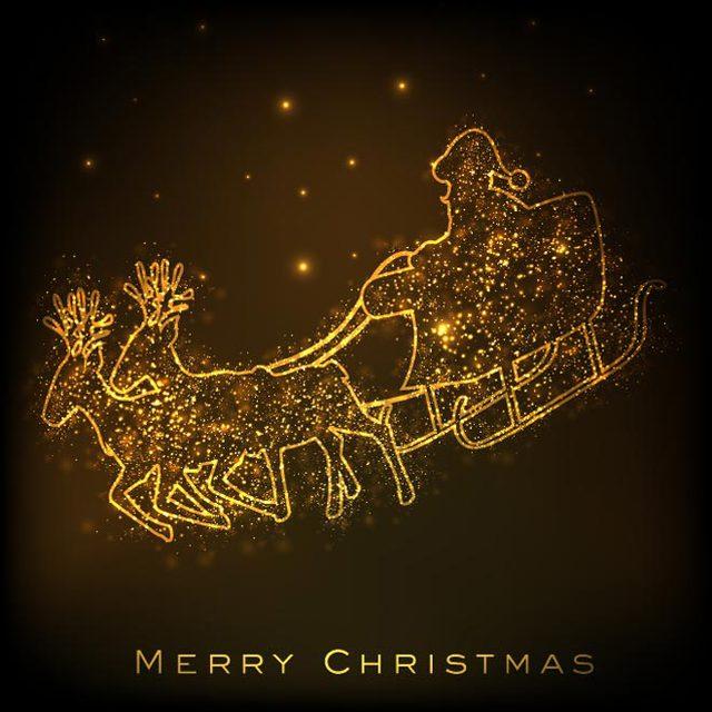 Милая открытка на Рождество