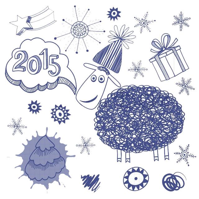С Новым годом 2015. Годом овцы