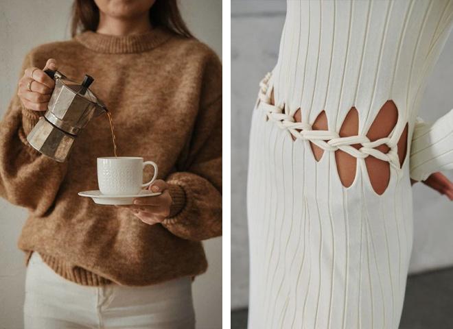 Модные трикотажные и вязаные вещи на осень