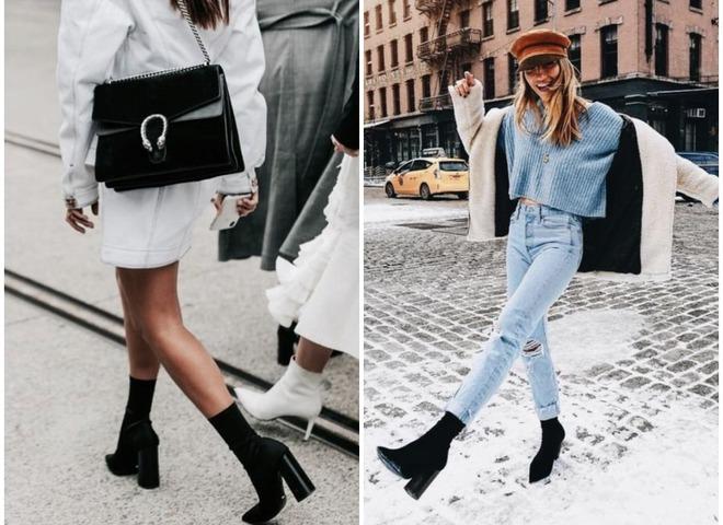 Обувь 2018: ботильоны-носки