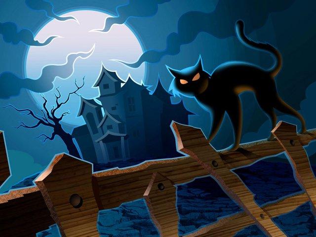 Котейные поздравления на Хэллоуин