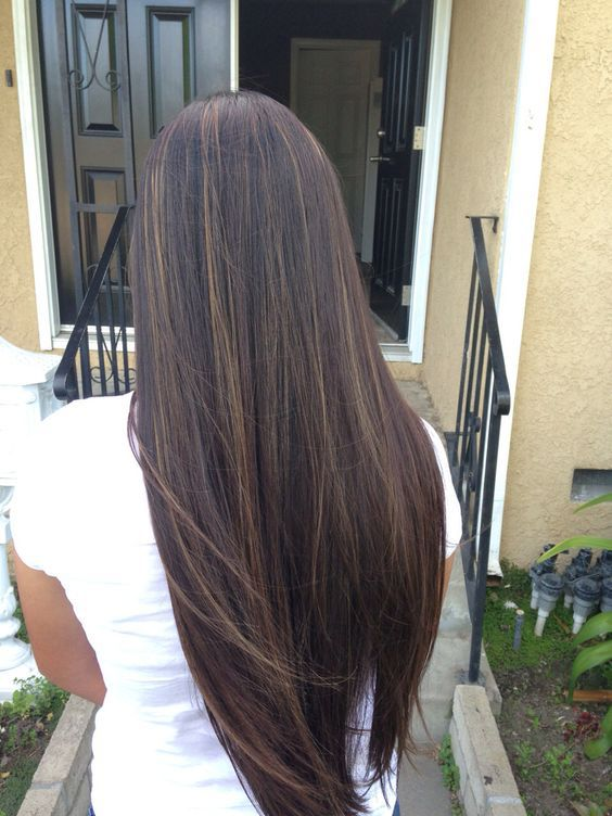 Мелирование волос на черные волосы