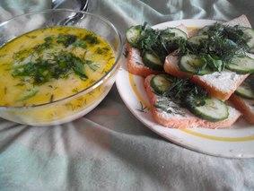 Бутерброды, как гарнир к сырному французскому супу