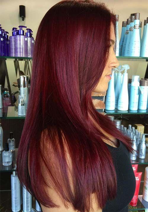 Цвет бургунди волосы