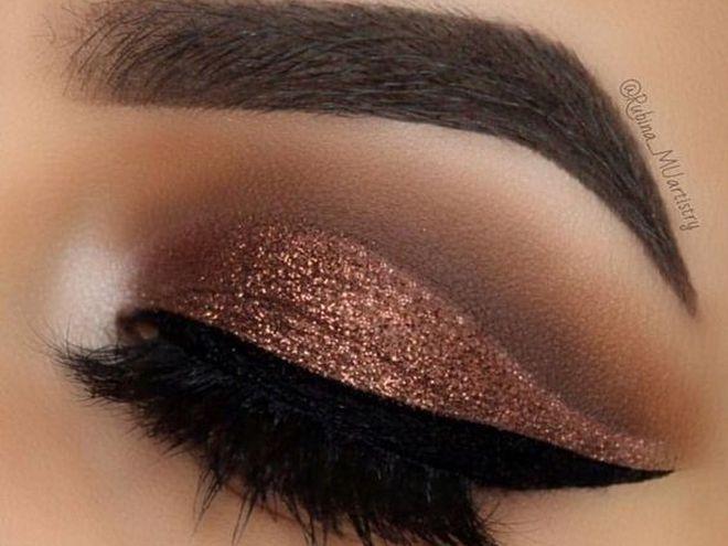 Макияж глаз: бронзовый цвет
