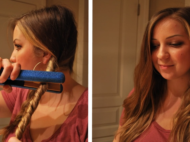 Как с помощью утюжка выпрямить волосы